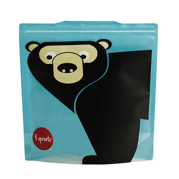 3 SPROUTS REUSABLE SANDWICH BAG (2 PACK) - BEAR