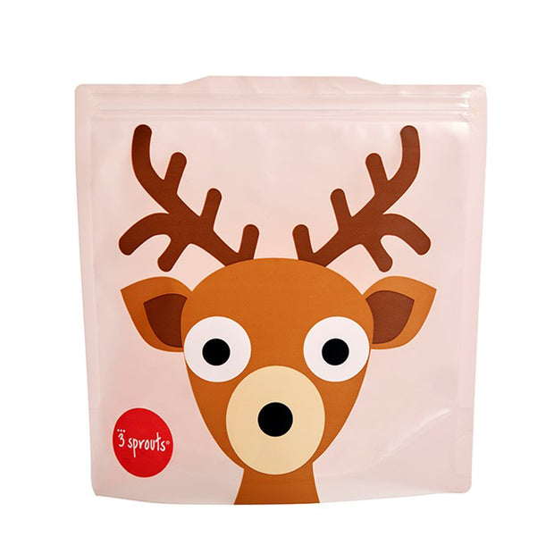 3 SPROUTS REUSABLE SANDWICH BAG (2 PACK) - DEER