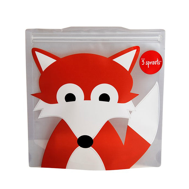 3 SPROUTS REUSABLE SANDWICH BAG (2 PACK) - FOX