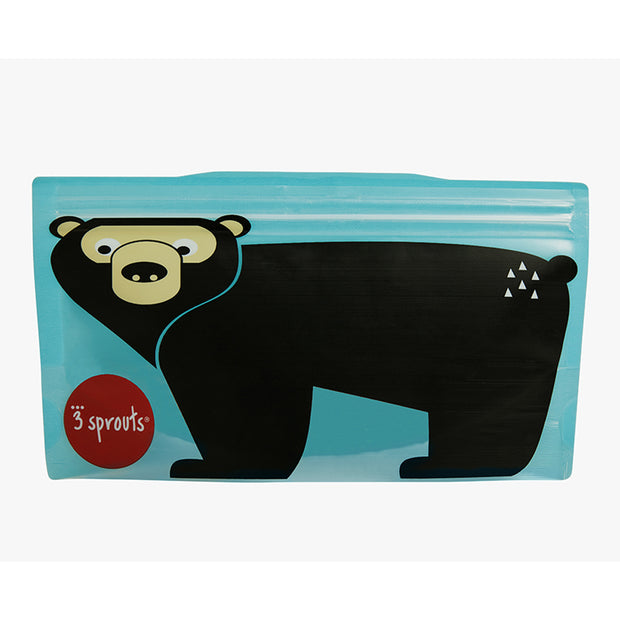 3 SPROUTS REUSABLE SNACK BAG (2 PACK) - BEAR