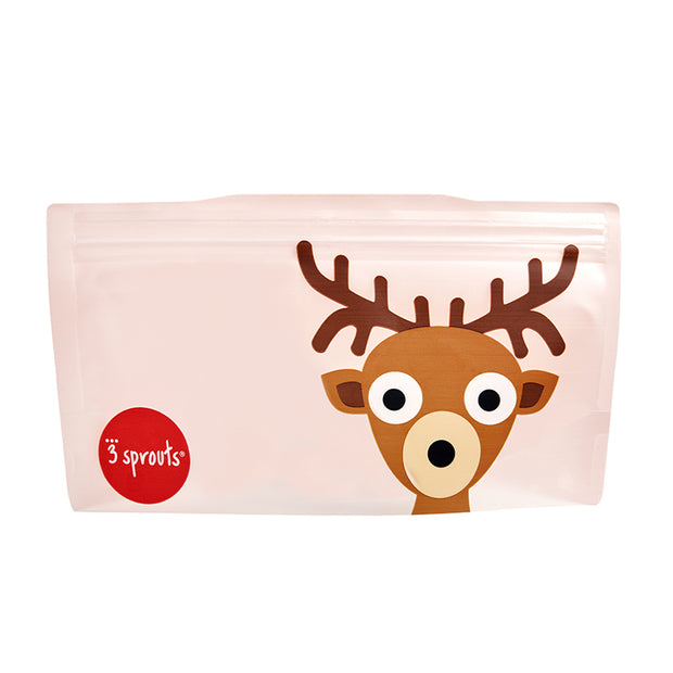 3 SPROUTS REUSABLE SNACK BAG (2 PACK) - DEER