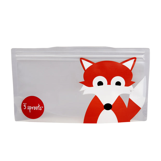 3 SPROUTS REUSABLE SNACK BAG (2 PACK) - FOX