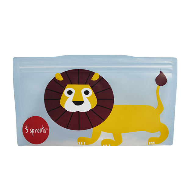 3 SPROUTS REUSABLE SNACK BAG (2 PACK) - LION