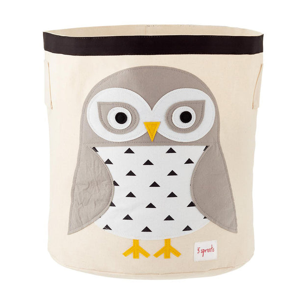 3 SPROUTS TOY STORAGE BIN - OWL