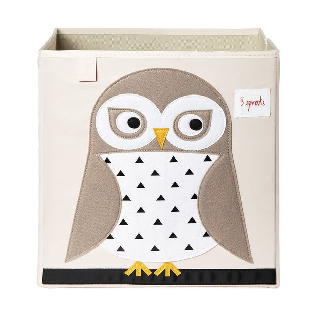 3 Sprouts Toy Storage Box - Owl