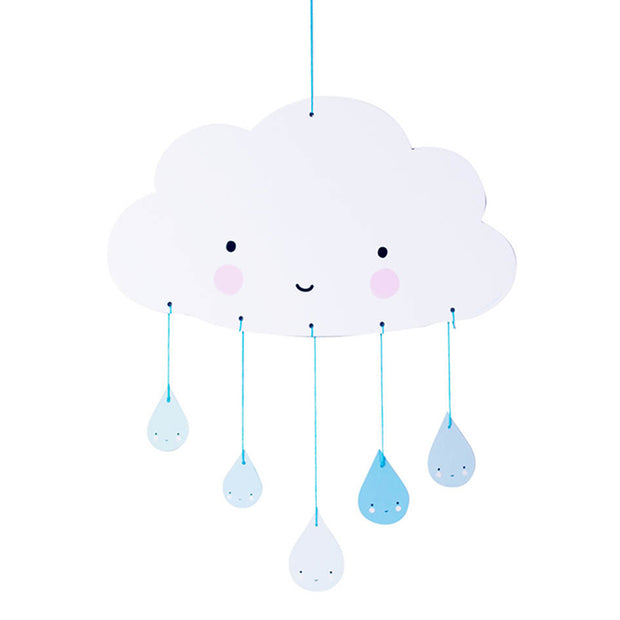 Cardboard Cloud Mobile - Blue