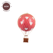 Authentic Models Hot Air Balloon - Red Hearts (Various Sizes)