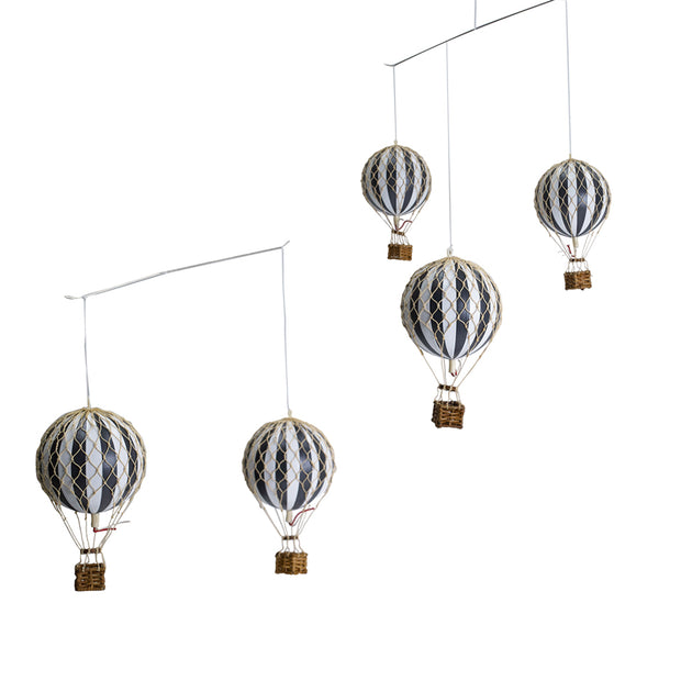 Authentic Models Ceiling Mobile - Hot Air Balloons (Black & White)