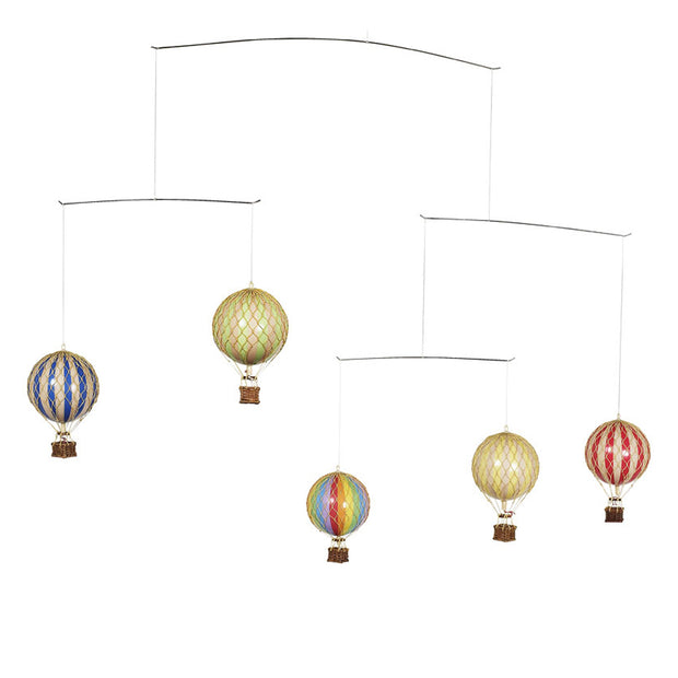 Authentic Models Ceiling Mobile - Hot Air Balloons (Primary Colours)