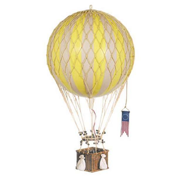 Authentic Models Hot Air Balloon - Yellow (Various Sizes)