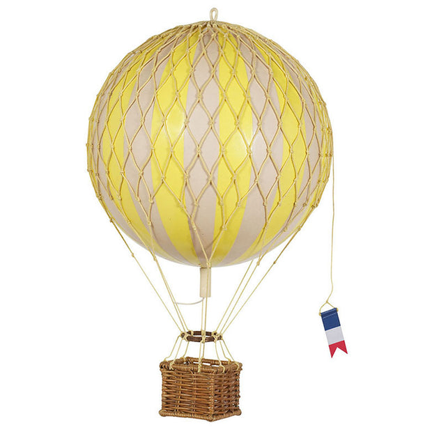 AUTHENTIC MODELS HOT AIR BALLOON YELLOW - VARIOUS SIZES