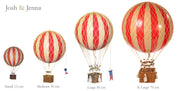 AUTHENTIC MODELS HOT AIR BALLOON WHITE & IVORY - VARIOUS SIZES