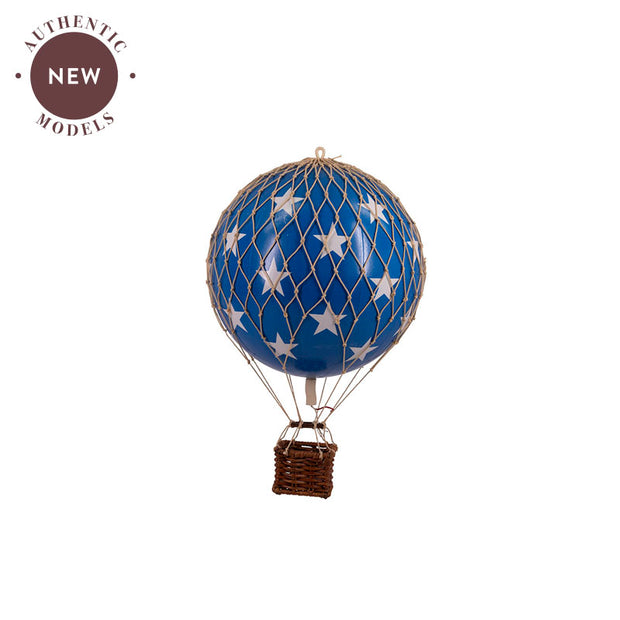 AUTHENTIC MODELS HOT AIR BALLOON BLUE STARS - VARIOUS SIZES