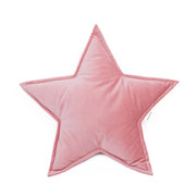 VELVET STAR CUSHION - VARIOUS COLOURS