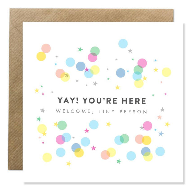 GIFT CARD - 'YAY YOU'RE HERE'