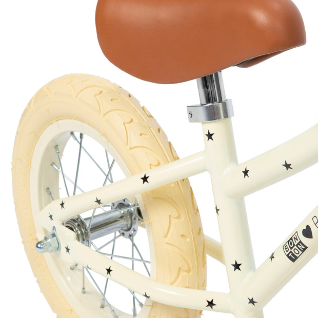 BANWOOD + BONTON FIRST GO BALANCE BIKE - CREAM | STARS