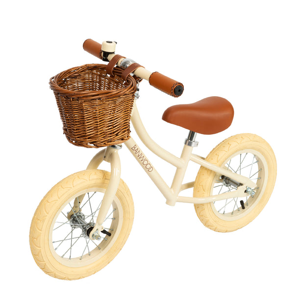 BANWOOD FIRST GO BALANCE BIKE - CREAM