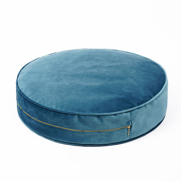 SMALL VELVET POUF - VARIOUS COLOURS