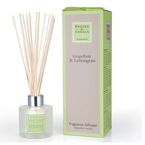 BROOKE & SHOALS REED DIFFUSER - GRAPEFRUIT & LEMONGRASS