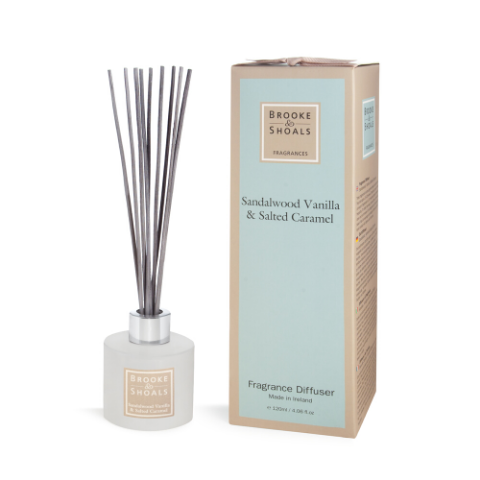 Brook & Shoals Reed Diffuser - Sandalwood Vanilla & Salted Caramel