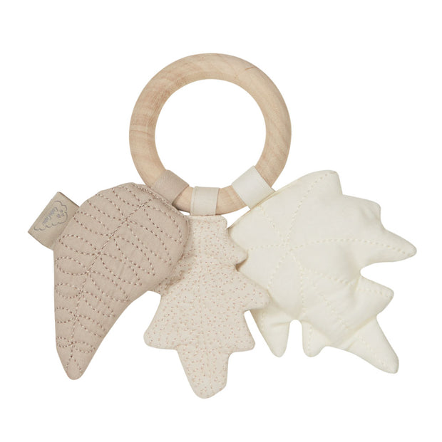Cam Cam Copenhagen Baby Rattle - Leaves Natural