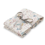 CAM CAM COPENHAGEN ORGANIC SWADDLE LIGHT - PRINTED LEAVES ROSE
