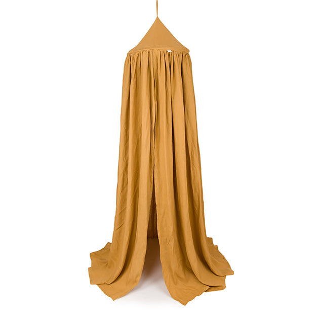 COTTON & SWEETS PURE NATURE LINEN CANOPY - CARAMEL