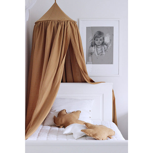 Cotton & Sweets Linen Canopy - Caramel