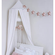 COTTON & SWEETS PURE NATURE LINEN CANOPY - WHITE