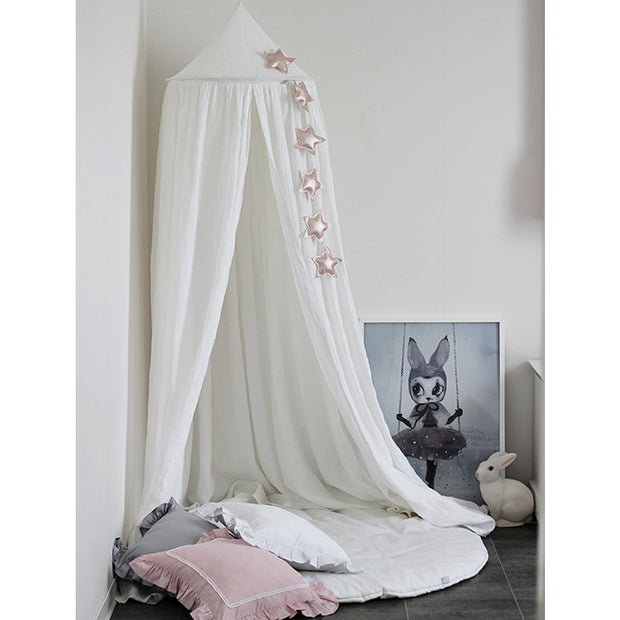 Cotton & Sweets Linen Canopy - White