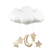 COTTON & SWEETS CLOUD MOBILE - GOLD MOON & STARS