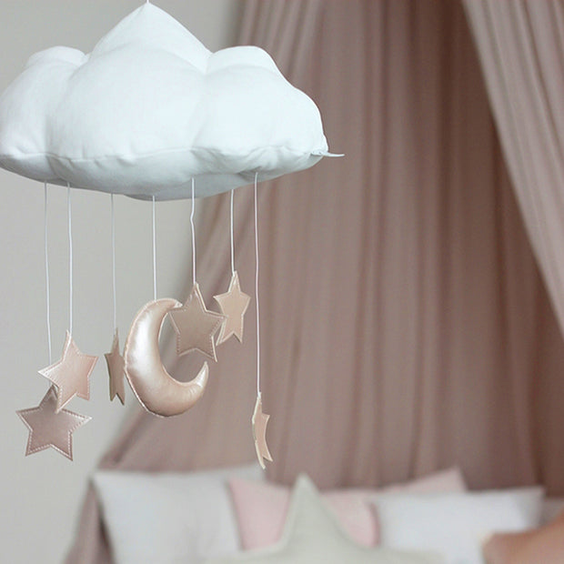 COTTON & SWEETS CLOUD MOBILE - PINK MOON & STARS
