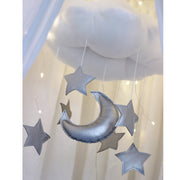 COTTON & SWEETS CLOUD MOBILE - SILVER MOON & STARS