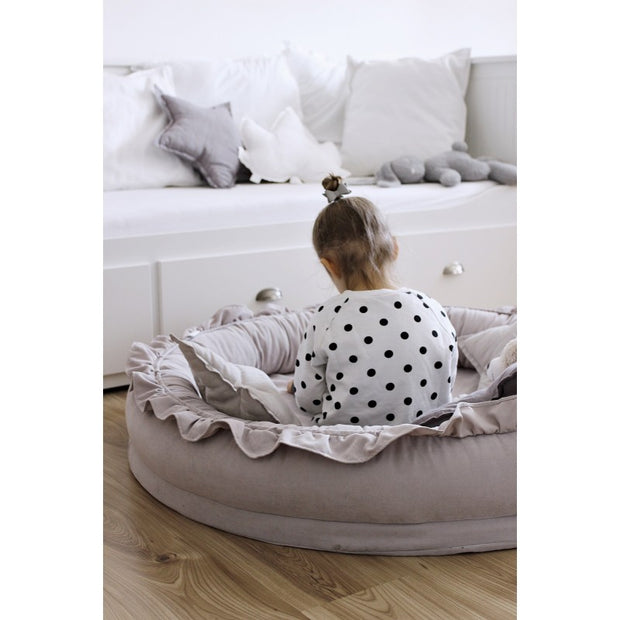 COTTON & SWEETS LINEN JUNIOR PLAY NEST - LIGHT GREY