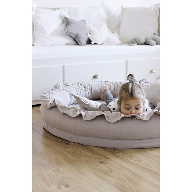 Cotton & Sweets Linen Junior Playnest - Light Grey