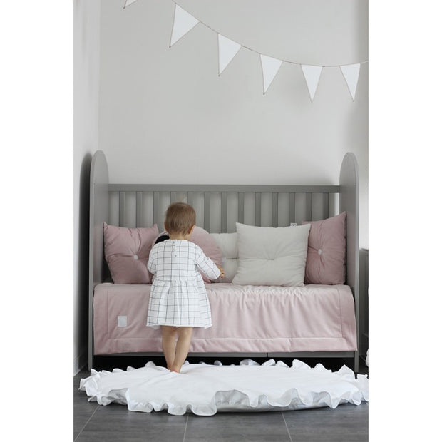 COTTON & SWEETS PURE NATURE LINEN PLAYMAT - WHITE