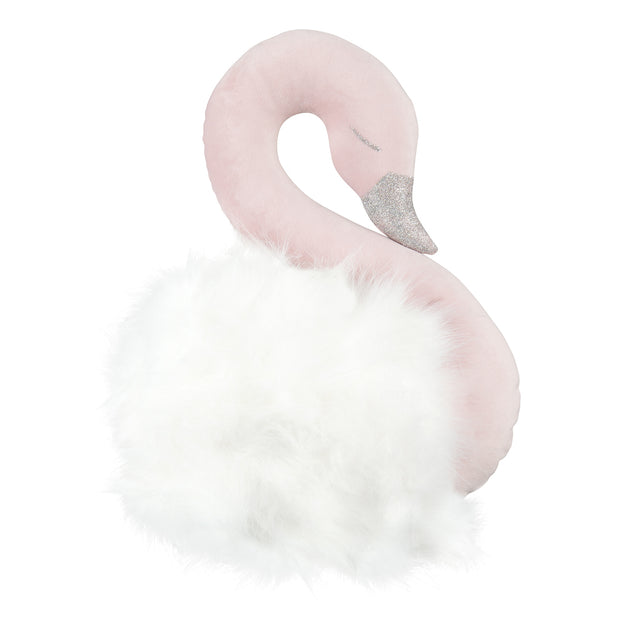 WALL SWAN DECORATION - POWDER PINK