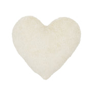COTTON & SWEETS PLUSH HEART CUSHION - VANILLA