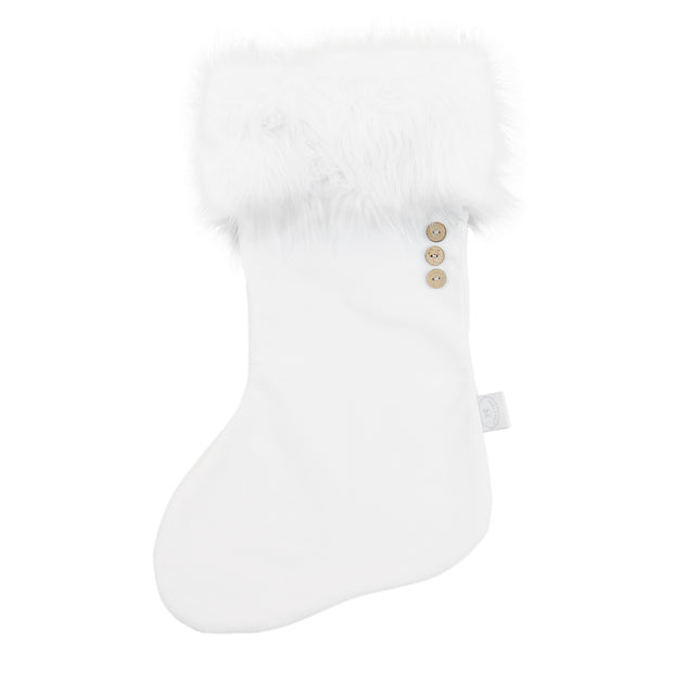 COTTON & SWEETS VELVET CHRISTMAS STOCKING - WHITE