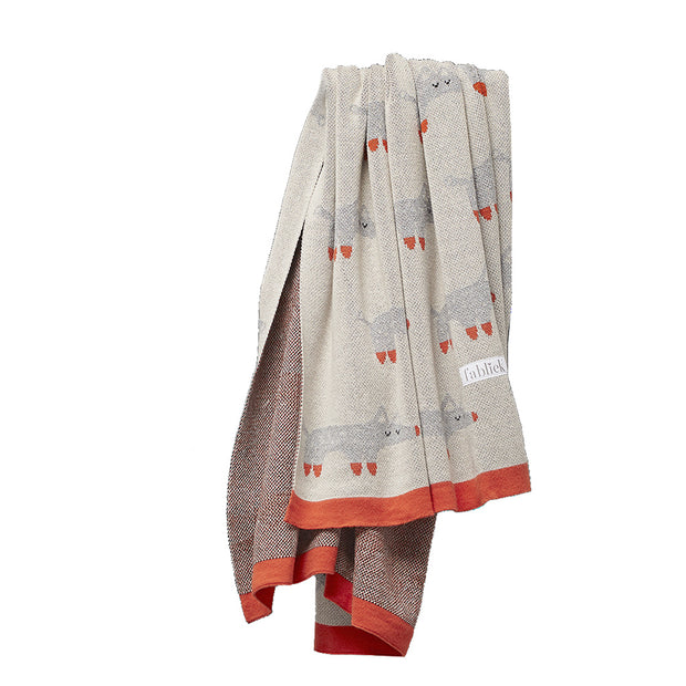 FABLIEK ORGANIC COTTON BLANKET - FOX