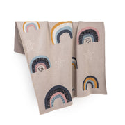 FABLIEK LARGE ORGANIC COTTON BLANKET - RAINBOWS
