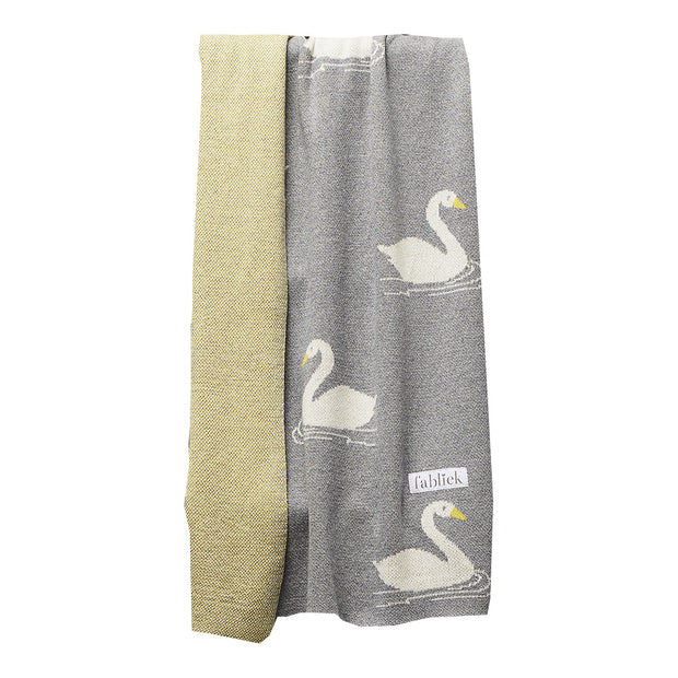 FABLIEK ORGANIC COTTON BLANKET - SWAN