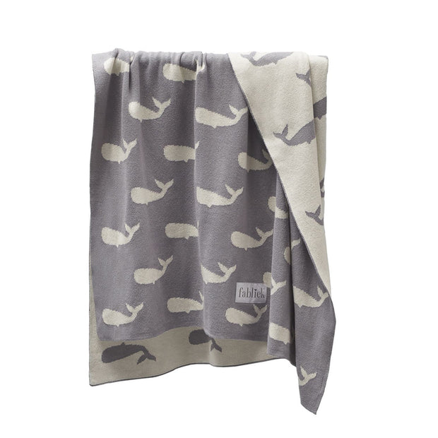 FABLIEK ORGANIC COTTON BLANKET - WHALE