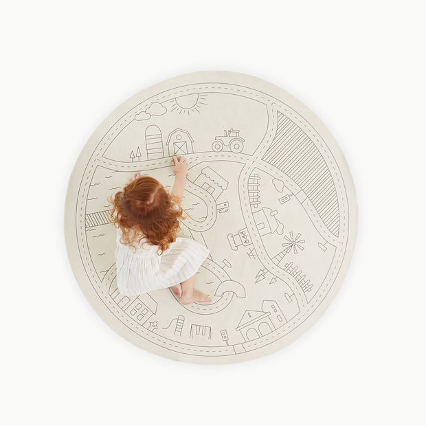 GATHRE MIDI ROUND MAT HOMESTEAD