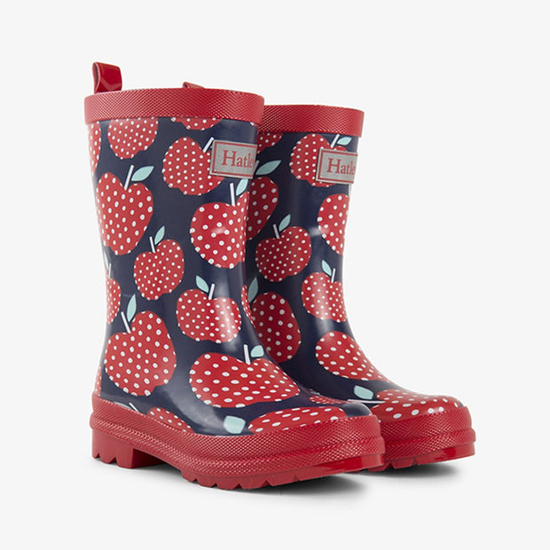 HATLEY KIDS RAIN BOOTS - POLKA DOT APPLES