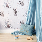 MRS MIGHETTO CIRCUS WALLPAPER - BLUE GREY