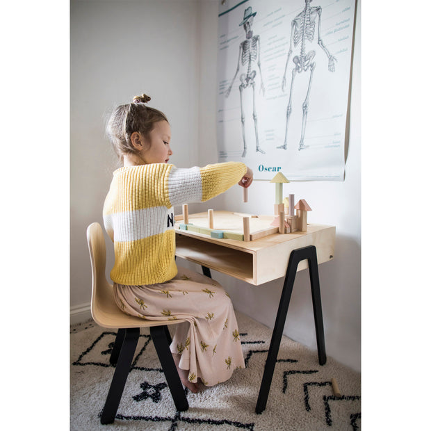 IN2WOOD KIDS DESK - BLACK