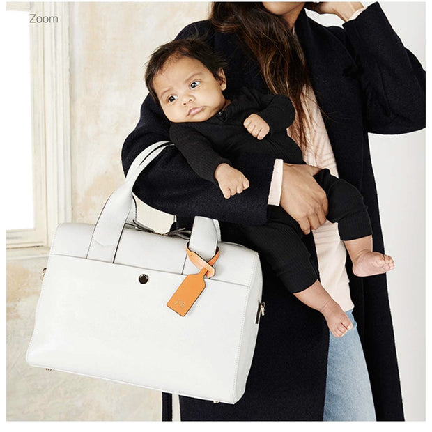 JEM + BEA BABY CHANGING BAG AMBER  - GREY/WHITE