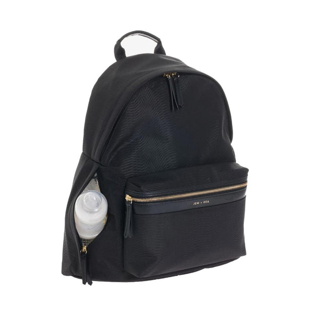 JEM + BEA JAMIE BABY BACKPACK  - BLACK PYTHON