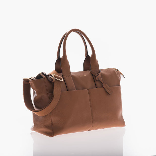 JEM + BEA JEMIMA BABY CHANGING BAG - TAN